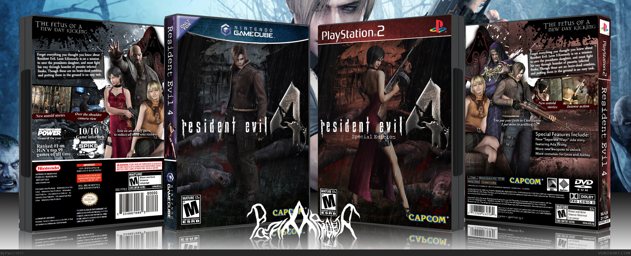 Resident Evil 4 Playstation 2 Box Art Cover By Pan
