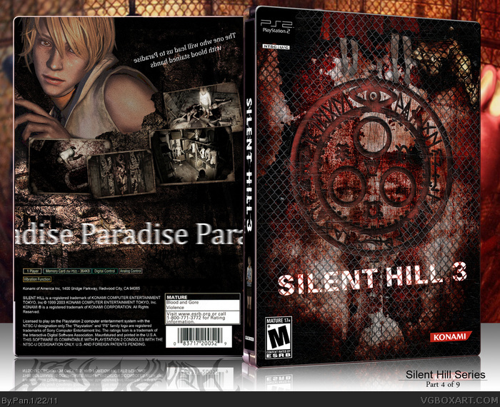 Silent Hill 3 Playstation 2 Box Art Cover By Pan