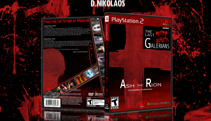 The Last Galerians Ash X Rion Playstation 2 Box Art Cover By