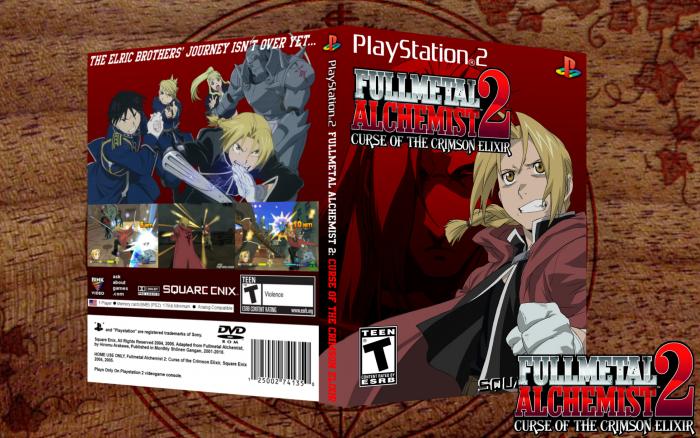 Fullmetal Alchemist 2: Curse of the Crimson Elixir PlayStation 2 Box Art Cover by darthnater