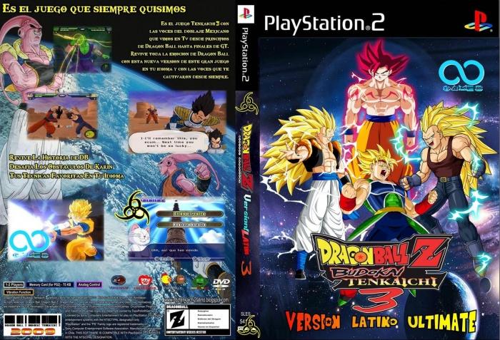 Dragon Ball Z Budokai Tenkaichi 3 Latino Playstation 2 Box Art Cover