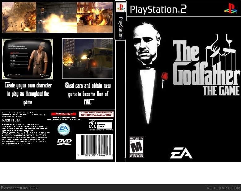 the godfather playstation 2 box art cover by seanbrett