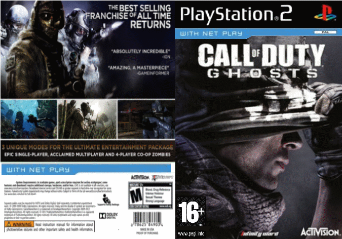 Call Of Duty Ghosts Playstation 2 Box Art Cover By Xspetsnaz