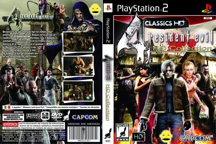 Resident Evil 4 Hd Playstation 2 Box Art Cover By Huguiniopasento
