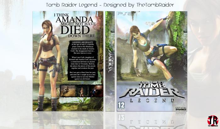 Lara Croft Tomb Raider Legend Playstation 2 Box Art Cover By