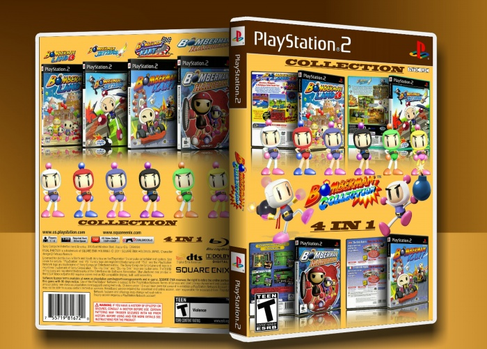 Bomberman Collection Playstation 2 Box Art Cover By Max Payne 3