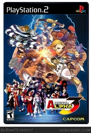 Street Fighter Alpha 3 Playstation 2 Box Art Cover By Blazetk
