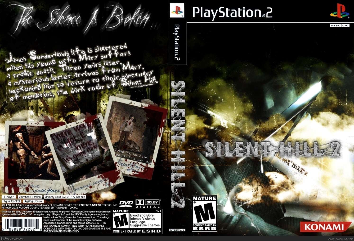 Silent Hill 2 Playstation 2 Box Art Cover By Feed