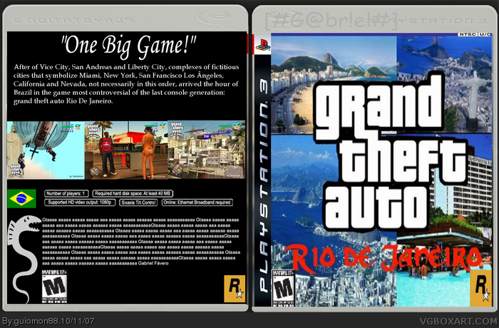 Grand theft auto rio de janeiro 2 0 playstation 3 box art for 2 1 2 box auto