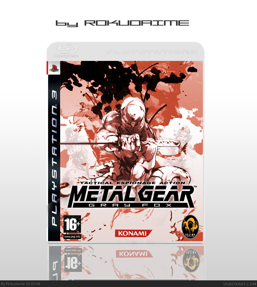 Metal Gear Solid: Gray Fox PlayStation 3 Box Art Cover By