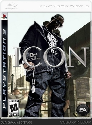Def Jam Icon PlayStation 3 Box Art Cover by VGAddict