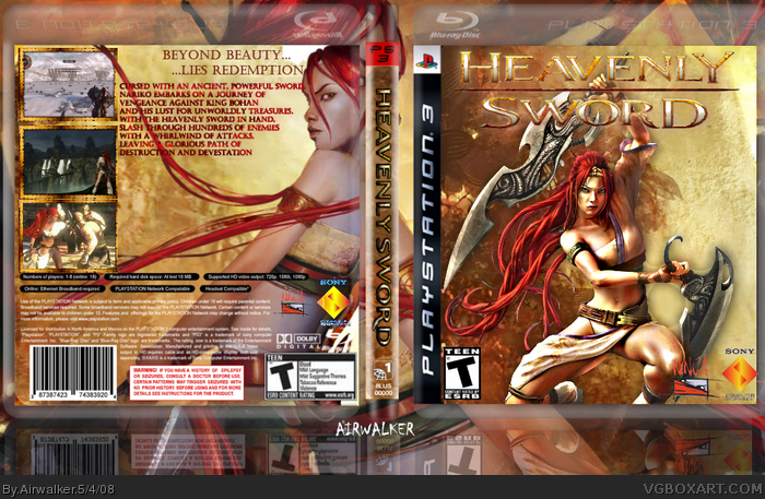 Heavenly Sword Playstation 3 Box Art Cover By Airwalker