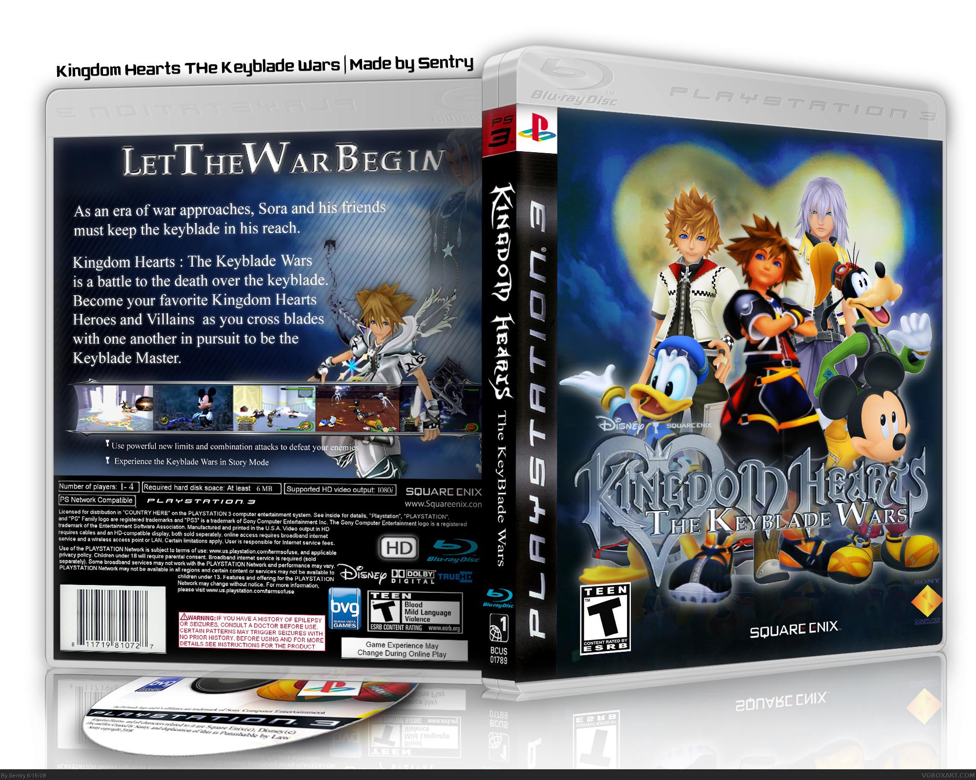 Kingdom Hearts The Keyblade Wars Playstation 3 Box Art