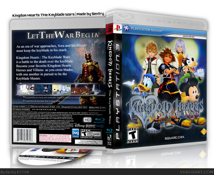 Ps2 Games All Of Them : Kingdom hearts the keyblade wars playstation box art