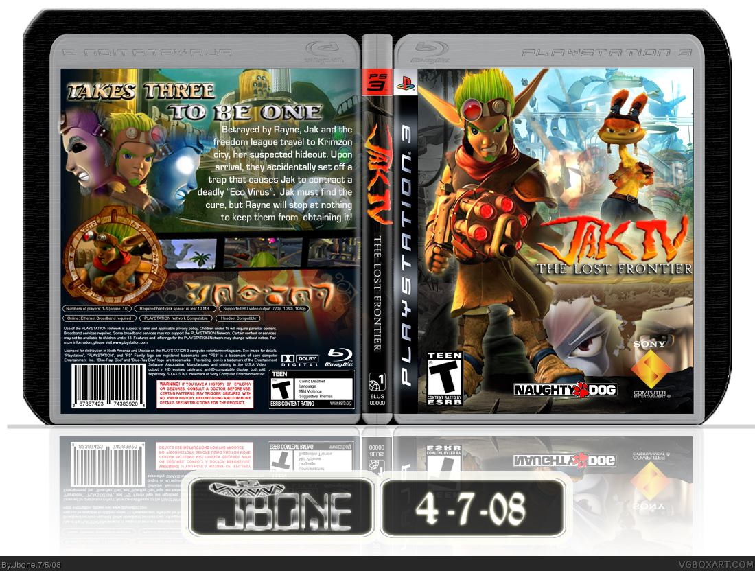 Jak Iv The Lost Frontier Playstation 3 Box Art Cover By Jbone