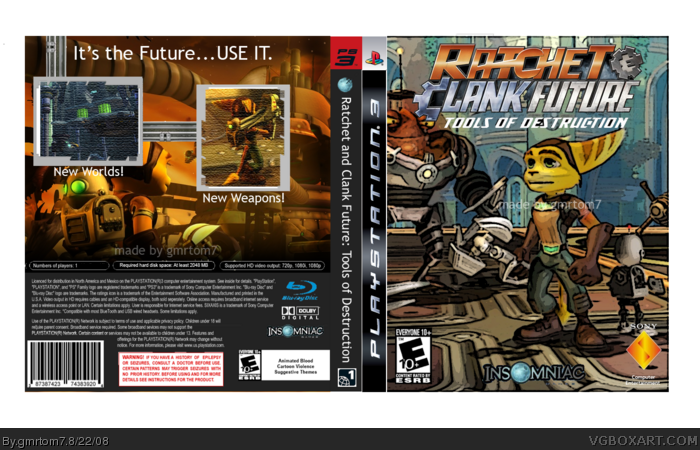 Ratchet And Clank Future Tools Of Destruction Playstation 3 Box