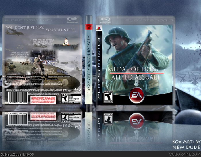 Medal Of Honor Allied Assault Playstation 3 Box Art Cover