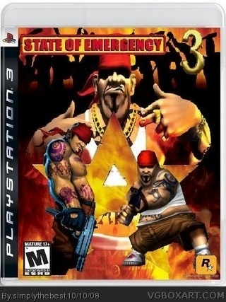 State Of Emergency 3 Playstation 3 Box Art Cover By