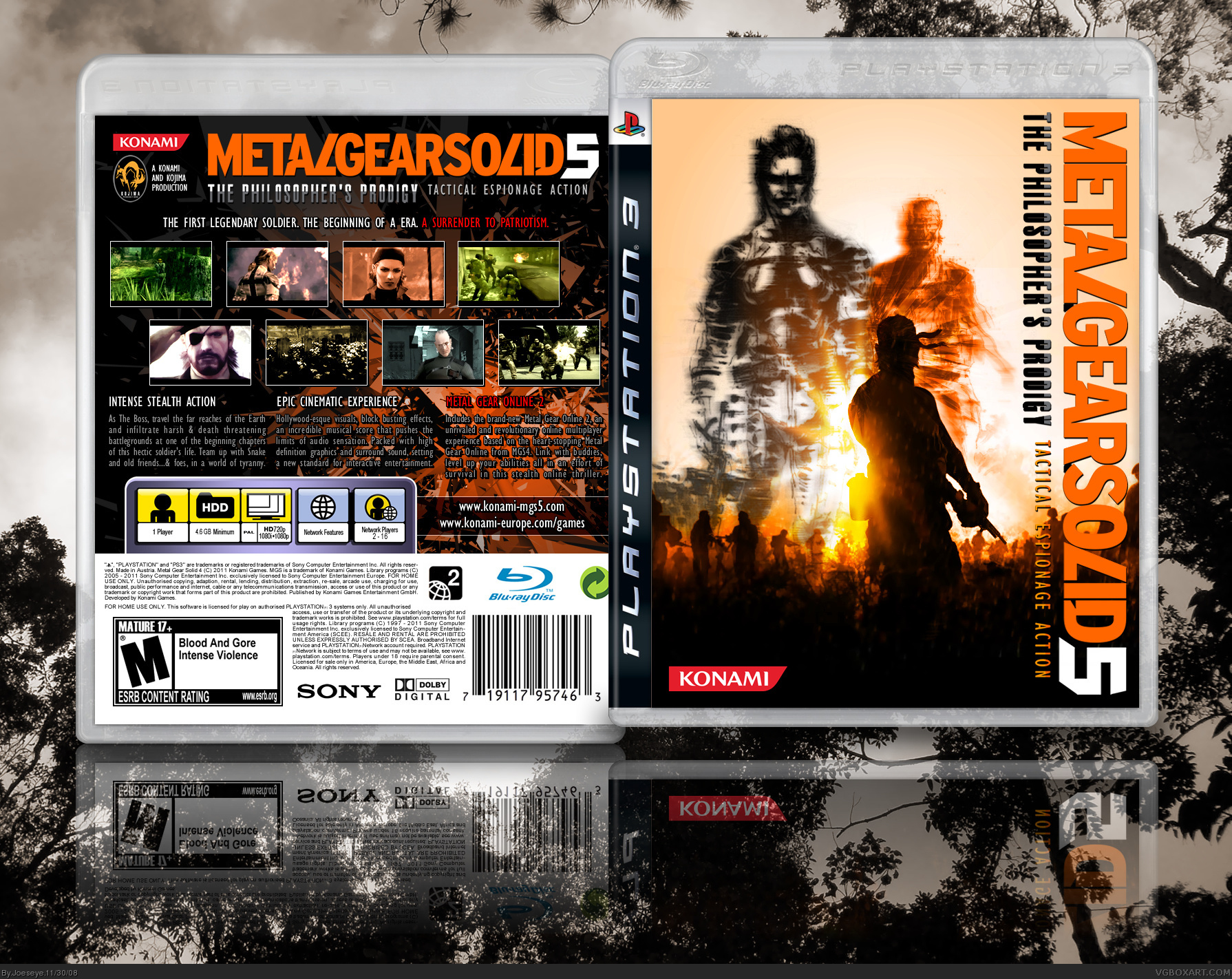 Metal Gear Solid 5 - The Philosopher's Prodigy PlayStation 3 Box Art