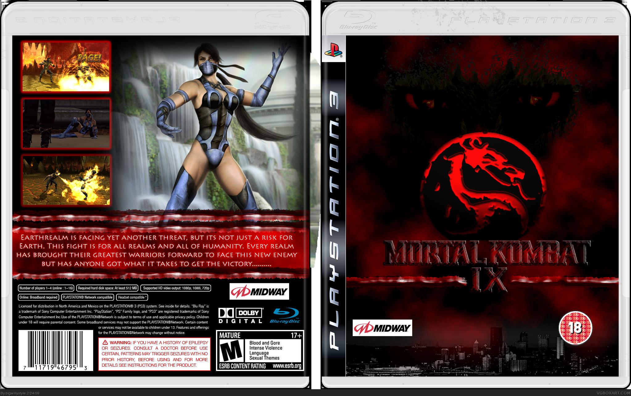Original Xbox Logo Mortal Kombat 9 PlaySt...