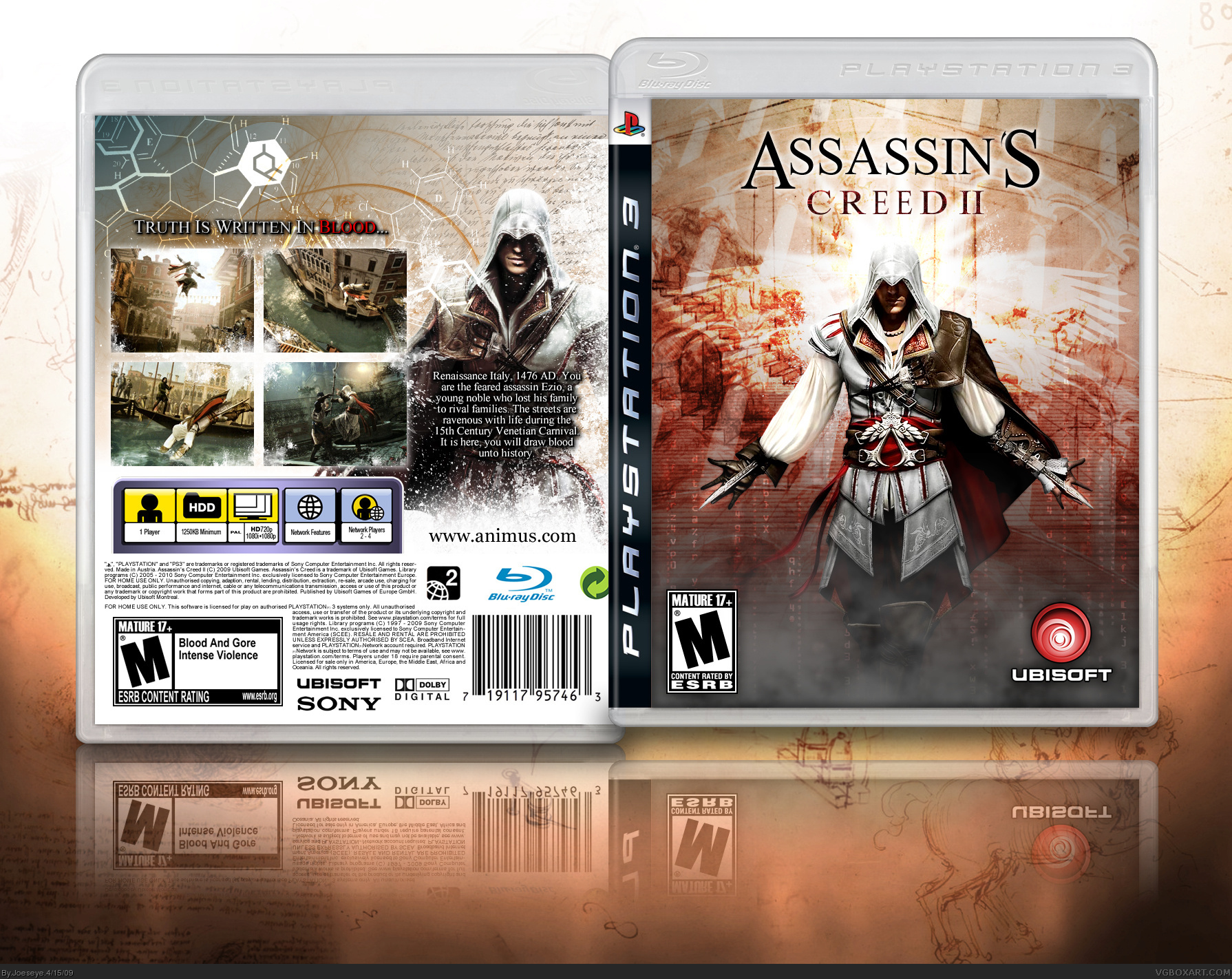 Assassin's Creed II PlayStation 3 Box Art Cover by Joeseye