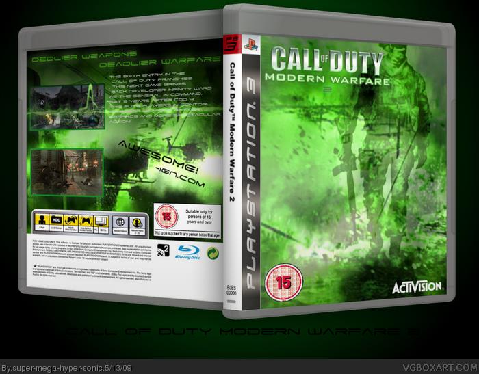 Call Of Duty: Modern Warfare 2 PlayStation 3 Box Art Cover by super