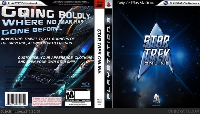 Star Trek Online Playstation 3 Box Art Cover By Jedi
