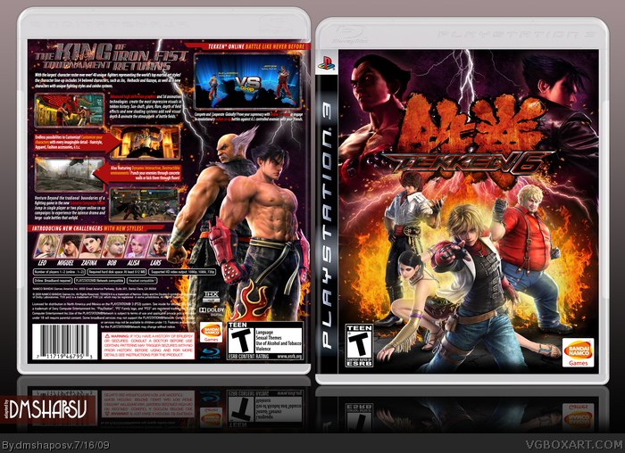 Tekken 6 Playstation 3 Box Art Cover By Dmshaposv