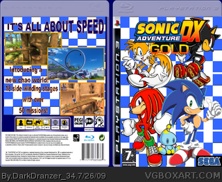 Sonic Adventure DX Gold PlayStation 3 Box Art Cover by