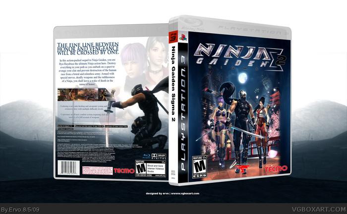 Ninja Gaiden Sigma Ii Playstation 3 Box Art Cover By Ervo