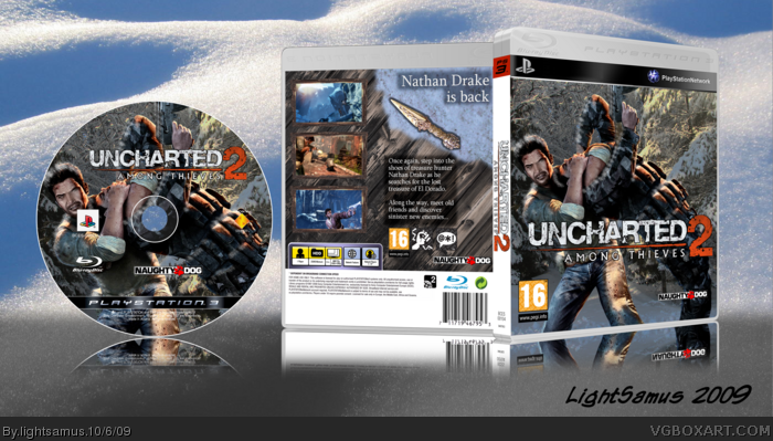 Uncharted 2 Among Thieves Playstation 3 Box Art Cover By Lightsamus
