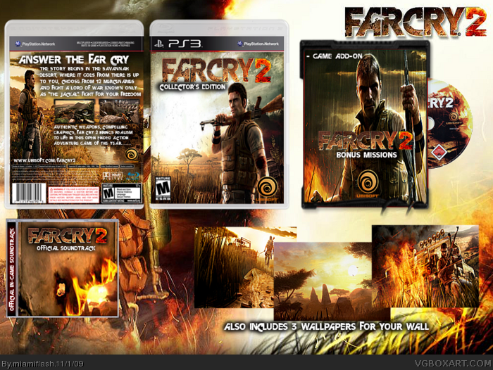 FarCry 2 Collectors Edition PlayStation 3 Box Art Cover by