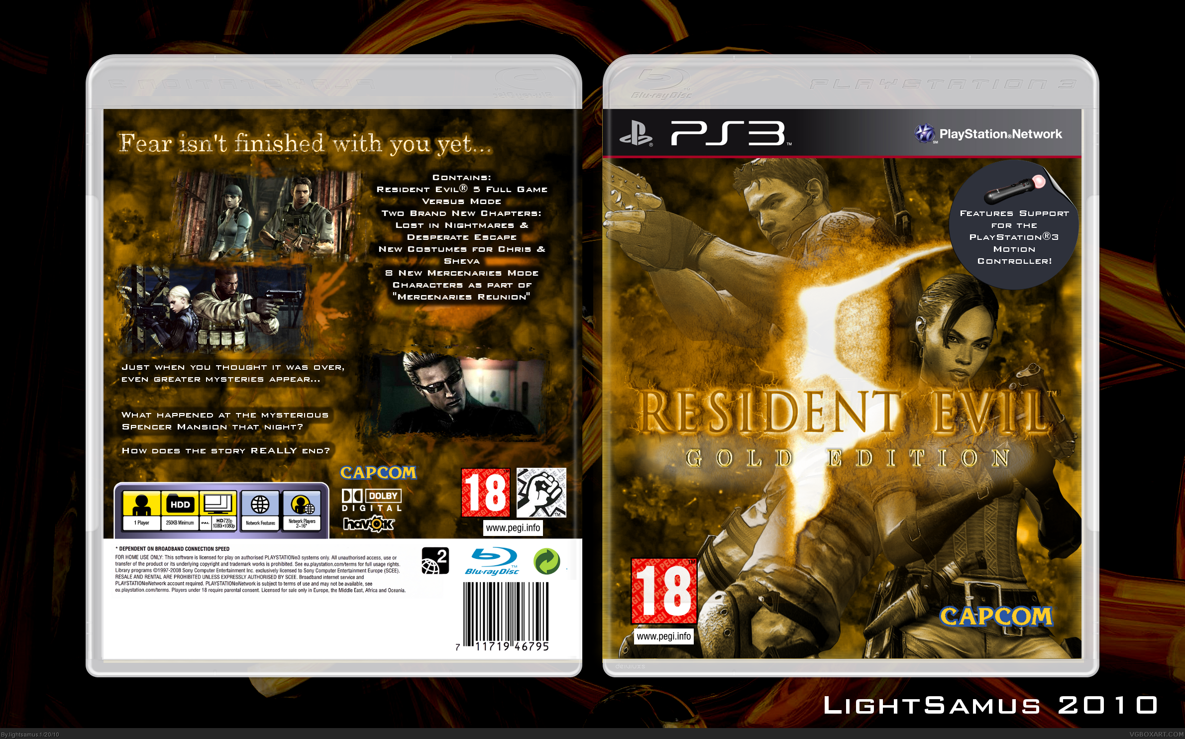 Resident Evil 5: Gold Edition PlayStation 3 Box Art Cover ...