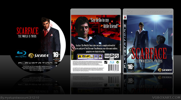 Scarface The World Is Yours Playstation 3 Box Art Cover By Mystupidaccount
