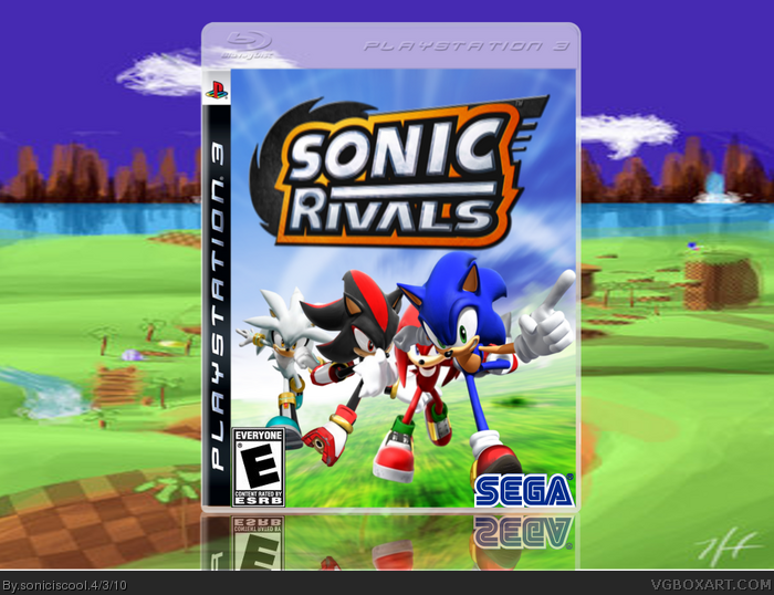 Sonic Rivals Playstation 3 Box Art Cover By Soniciscool