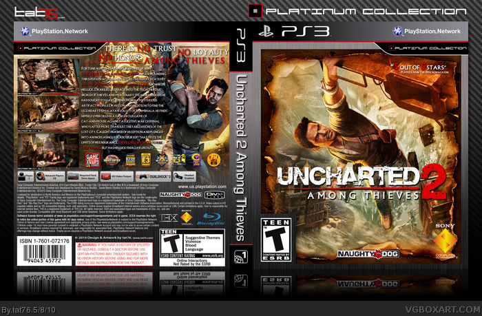 Uncharted 2 Among Thieves Playstation 3 Box Art Cover By Tat76