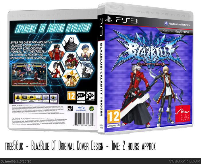 BlazBlue: Calamity Trigger PlayStation 3 Box Art Cover by