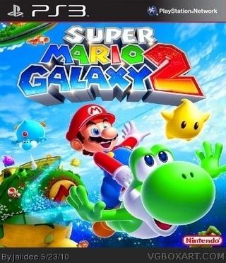 Super Mario Galaxy 2 PlayStation 3 Box Art Cover by jaiidee