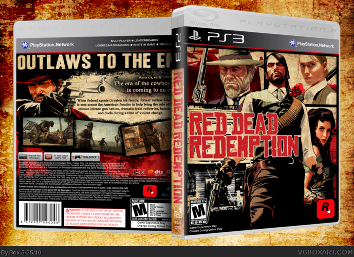 Red Dead Redemption PlayStation 3 Box Art Cover by Box