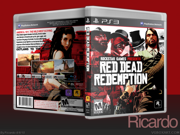 Red Dead Redemption PlayStation 3 Box Art Cover by Ricardo