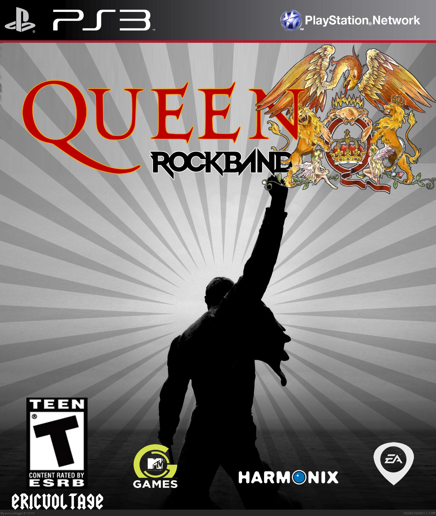 Queen Rock Band Playstation 3 Box Art Cover By Ericvoltage