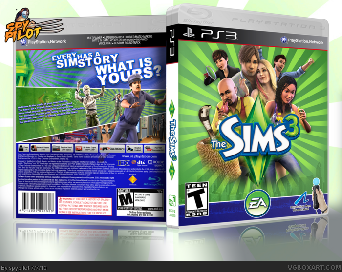 The Sims 3 Playstation 3 Box Art Cover By Spypilot
