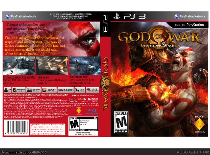 God of War:Ghost of Sparta PlayStation 3 Box Art Cover by