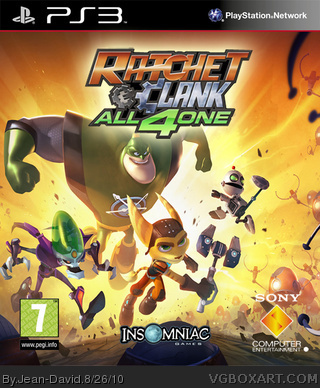 Ratchet Clank All 4 One Playstation 3 Box Art Cover By Jean David