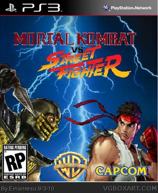 Mortal Kombat Vs Street Fighter Playstation 3 Box Art Cover By Emanresu