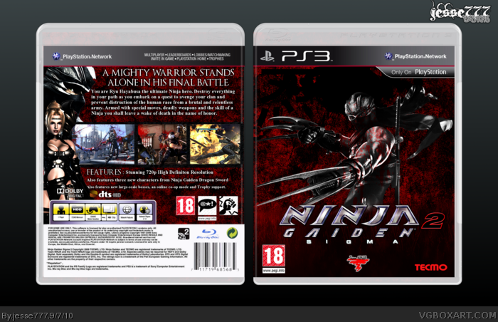 Ninja Gaiden Sigma Ii Playstation 3 Box Art Cover By Jesse777