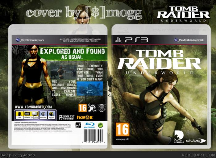 Tomb Raider: Underworld PlayStation 3 Box Art Cover by [$]mogg