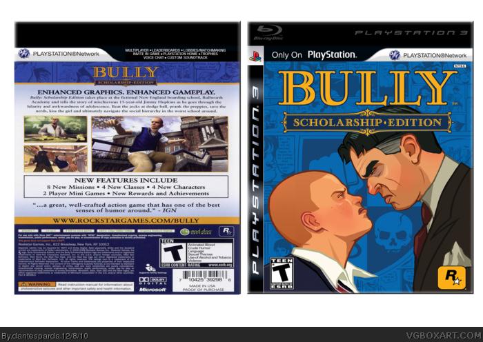 Bully 2 PlayStation 3 Box Art Cover by dantesparda