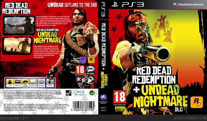 Red Dead Redemption: Undead Nightmare PlayStation 3 Box Art