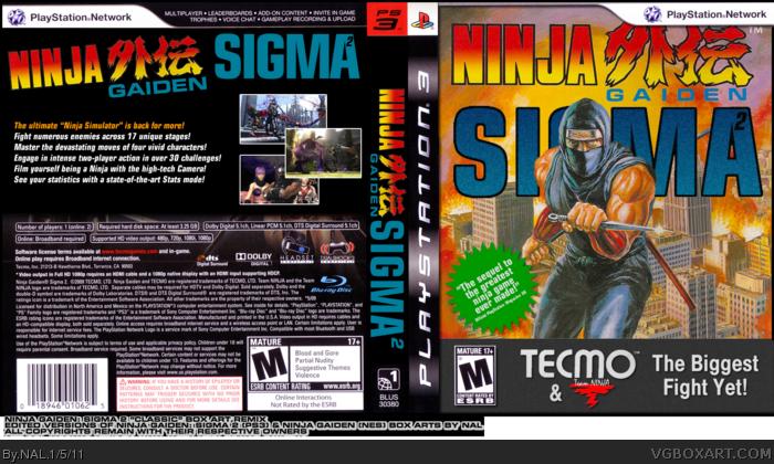 Ninja Gaiden Sigma Ii Playstation 3 Box Art Cover By Nal